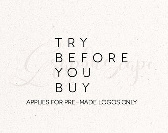 Logo design - Try before you buy - Premade logo Preview - Sample One Premade Logo - LOGO PREVIEW of a premade logo in my store