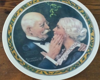 1976 Limited Edition Norman Rockwell Christmas Plate by Knowles