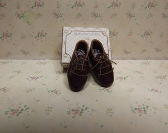 1/12th Scale Miniature Mens Brown Oxford Style Shoes
