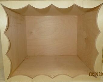 FREE SHIPPING Display Miniature Dollhouse roombox unfinised assambled wood empty diorama box New