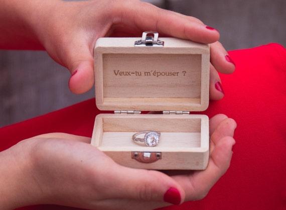 en bois alliances de mariage boîte gravée citation phrase mariage ...