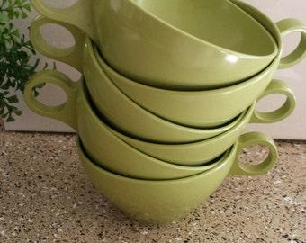 Melmac Coffee Cups, Set of 6