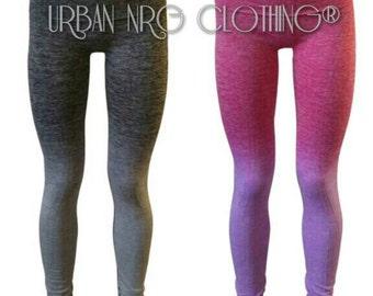 Grey / Pink Ombre Leggings