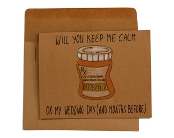 Will you be my bridesmaid funny - Funny bridesmaid proposal card - funny bridesmaid card - card for bridesmaids funny - bridesmaid card