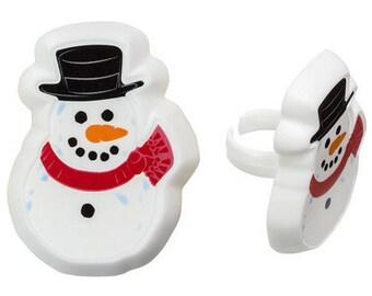 SNOWMAN Cupcake Rings