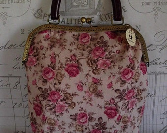 Joisys ® bag with bracket English roses pink