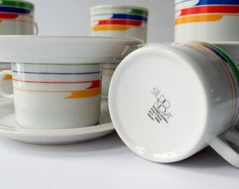 Rainbow Studio Nova HiFi Cups and Saucers Set of Ten