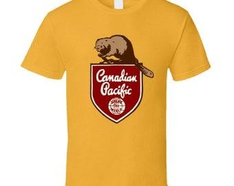 Canadian Pacific Railways Logo T Shirt