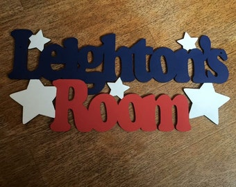 Personalised Childrens Bedroom Sign