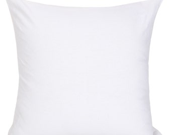 Set of 2 Solid White Pillow Cover and Euro Sham Covers White Decorative Pillow Accent Pillow White Throws White Shams Bedding