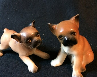 Adorable Bull Dog Salt and Pepper Shakers