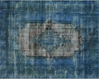 Persian Overdyed Rug in Blue, 10x12