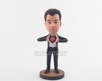 Personalized bobble head-superman bobblehead-bobblehead gift-birthday gift-doll gift for him-christmas bobblehead-christmas gift