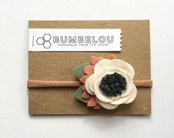 Linen Blossom Flower Headband