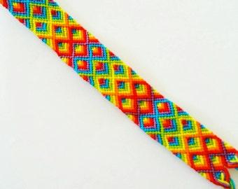 Rainbow Diamond Chevron Friendship Bracelet