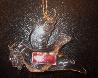 Waterford Crystal Turtle Dove Christmas Ornament - NIB