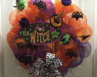 Decomesh Halloween Wreath with Plaque
