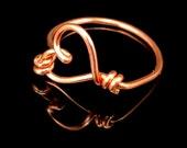 Copper Wire Heart Ring - #0077