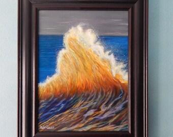 Rootbeer wave,ocean,surf,yellow,orange,water,blue