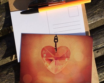 Sparkling Heart Postcard