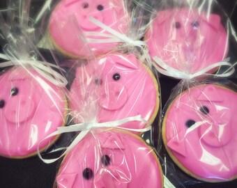 Pig Face Sugar Cookies - 1 dozen