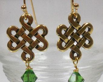 Jewelry Making Kit: Earring Kit Eternity Knot Drop 1 pr 1220410