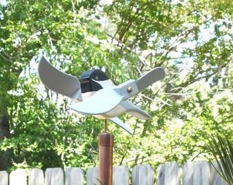 Chickadee, Wooden Whirligigs, Whirligig, Whirly gig, Twirlybird, Whirlybird, Whirly bird, Yard, Garden, Folk art, Whimsical