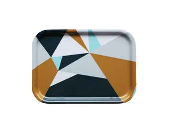 Graphic tray with triangles