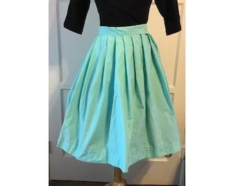 Light Blue Pleated Skirt
