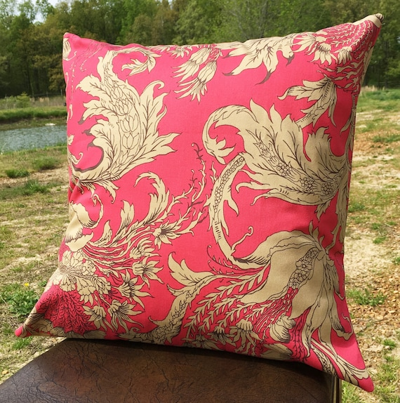 Pillow cover 20x20 living room pillow hot pink by for 20x20 living room