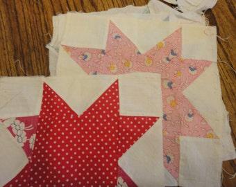 8 vintage quilt blocks