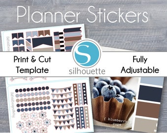 Passion Planner Sized Planner Stickers - Silhouette Studio File - Print and Cut