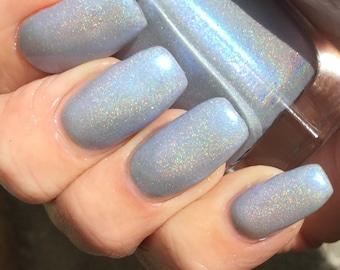 sale  Tara - icy blue linear holographic nail polish