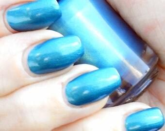 The New Jewel - Teal blue shimmering jewel tone nail polish