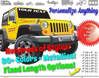 custom vinyl lettering decal sticker use on business car boat jeep truck trailer window glass metal wood more
