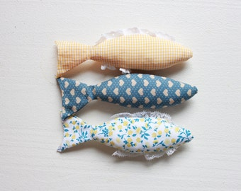 Wall decor: Sardines in fabric
