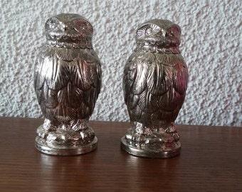 Vintage owl salt and pepper set shakers