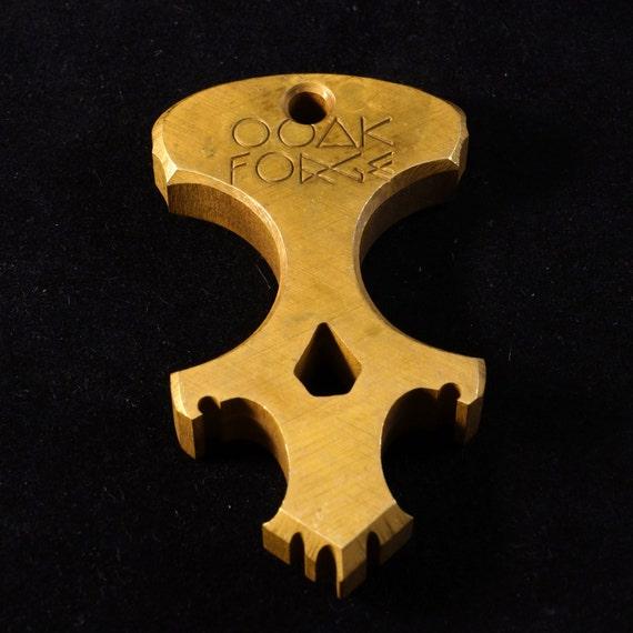 Brass OOAK Forge Multi-Tool Keychain