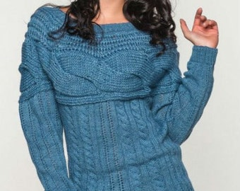 Knitted sweater for stylish women Warm sweater long sleeves Every day sweater Autumn Winter