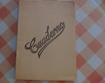 Vintage Spanish Notebook A5 Blank Unused
