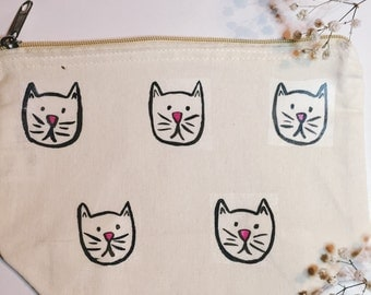 Cat Print Make Up Bag