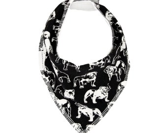 Bulldog Dribble Bib - Handmade Australian Adjustable Bib for Baby Boys & Girls - Made in Sydney