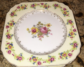 Floral Set of 5 China Plates