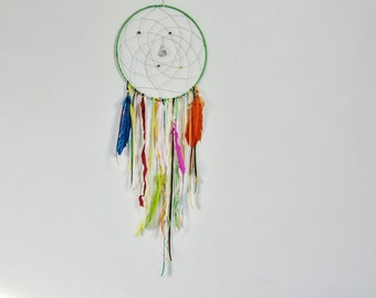 Large rainbow dream catcher. Rainbow dreamcatcher. Gift Idea.