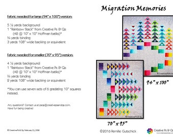 Migration Memories - Quilting Pattern