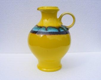 Yellow Hutschenreuther vase