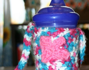 Sippy Cup Cozy with Strap
