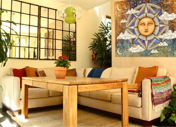 Artistic Wall Design Inc : Danmorrisart sun moon celestial tapestry wall hanging