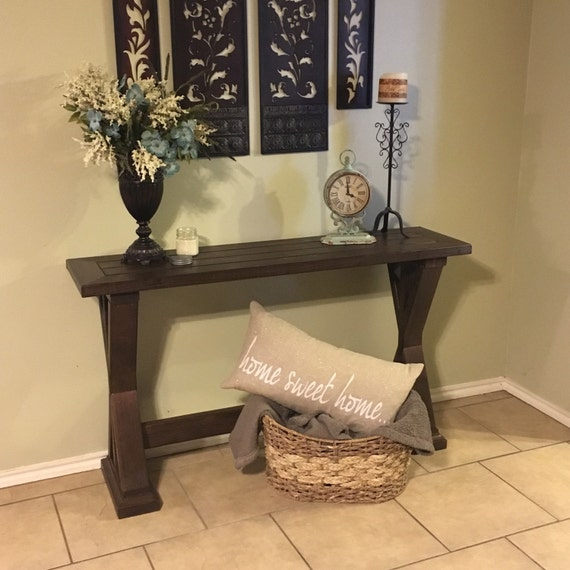 Foyer Table Etsy : Items similar to rustic entryway table local pickup only
