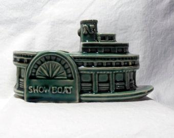 Showboat Planter Green Brush McCoy Pottery Planter